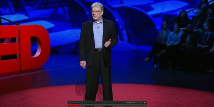 Nieuwe TED-talk Sir Ken Robinson: How to escape education's death valley